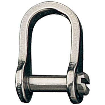 Stainless Steel Rigging Fittings, Standard Dee, Slotted pin - RF152