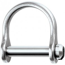 "Stainless Steel Rigging Fittings, Wide Dee, 3mm (1/8"") slotted pin - RF1850s"