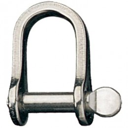 Stainless Steel Rigging Fittings, Standard Dee, Coined pin head - RF617