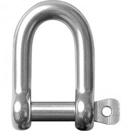 Stainless Steel Rigging Fittings, Standard Dee, Coined pin head - RF618a