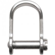 Stainless Steel Rigging Fittings, Standard Dee, Lightweight, slotted pin - RF707s