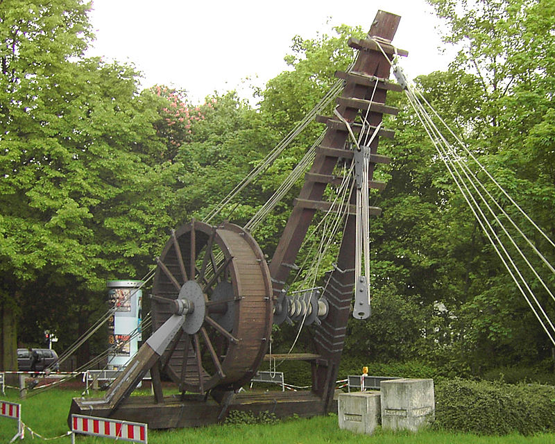 Pulleys In Cranes : Origin of the pulley system and how a block tackle work