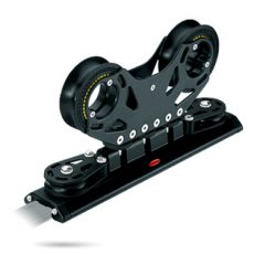 Ball bearing and slide rod traveller systems. Series 42 mm cars. Low profile, lightweight alloy.